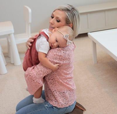 Shayla hugging daughter, Bryn