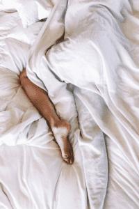 semi prone sleeping position